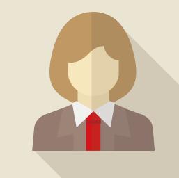 女性の顔イラスト